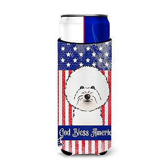 Bichon Frise Michelob Ultra Koozies for slim cans BB2147MUK