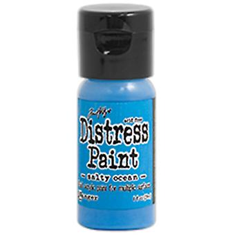 Distress Paint Flip Cap 1oz-Salty Ocean TDF-53224