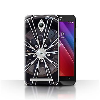 STUFF4 Case/Cover for Asus Zenfone Go ZC500TG/Silver/Alloy Wheels