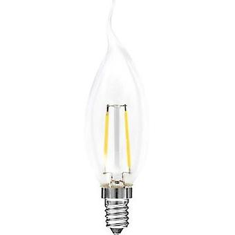 LED E14 Candle angular 2 W = 25 W Warm white (Ø x L) 35 mm x 120 mm EEC: A++ Müller Licht Filament 1 pc(s)