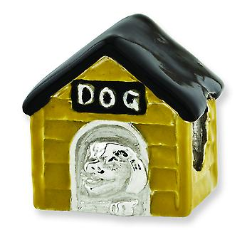Sterling Silver Reflections Enameled Dog House Bead Charm