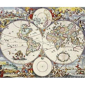 Map of The World Poster Print by  Cornelis Danckerts