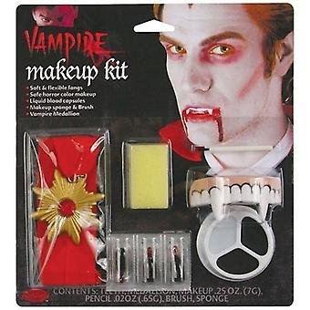 Count Character Make Up Kit Dracula Fancy Dress Halloween Vampire Horror Fangs