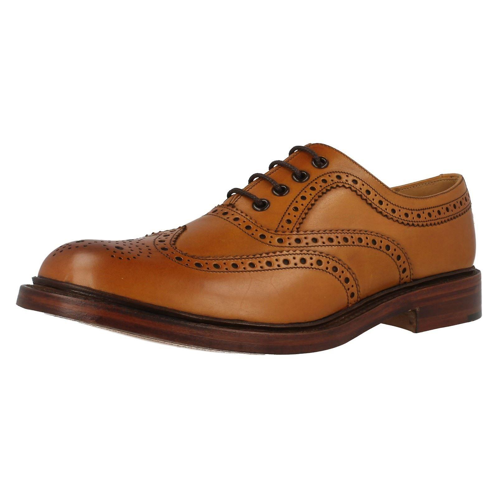 Mens Loake 1880 brunito Ashby brogue in pelle