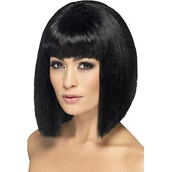 Bob wig black ladies Coquette bobbed short hair hairstyle