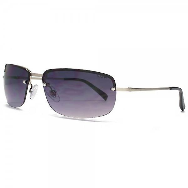 SUUNA NY NY Rimless Sunglasses In Matte Silver