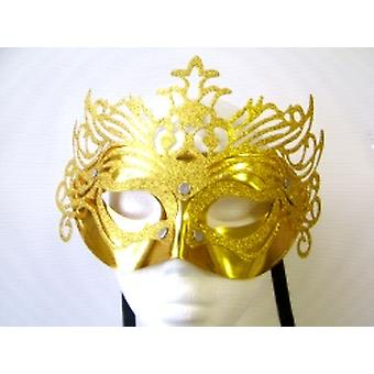 Gold Ornate Mask With Silver studs (1)
