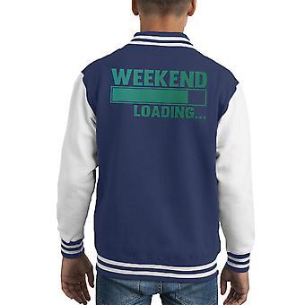 Fin de semana cargando Varsity Jacket niños