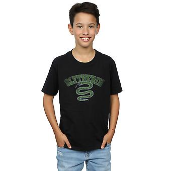Harry Potter Boys Slytherin Sport Emblem T-Shirt
