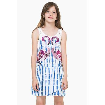 Desigual girl dress with a flamingo motif of sequined vest in Tripoli