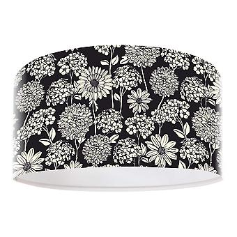 Pendant light FotoLume flower black & white Ø 40 cm 10744