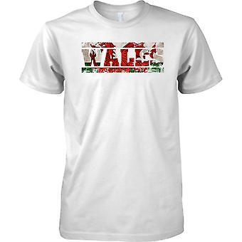 Name Markierungsfahne in Wales Grunge Effekt - Dragon - T-Shirt für Herren