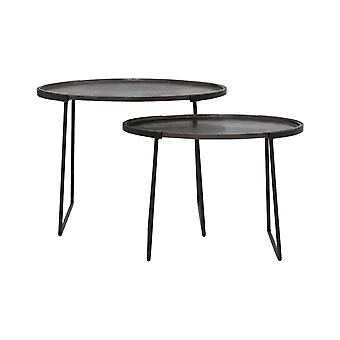 Light & Living Side Table S/2 57x36x41+65x46x48 Cm ROJA D.bronze-matt Black