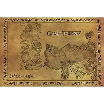 Game of Thrones - Antique Map Poster Poster Print
