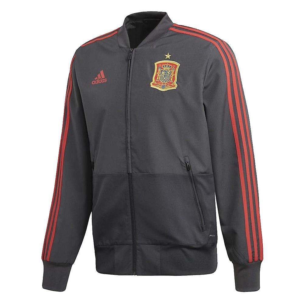 2018-2019 Spanje Adidas presentatie jas (effen grijs)