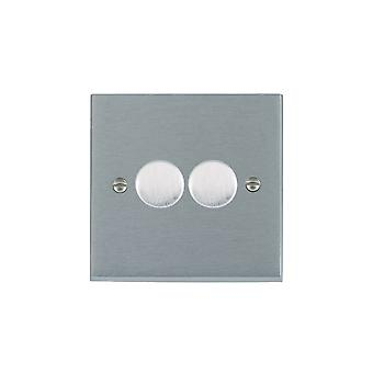 Hamilton Litestat Cheriton Victorian Satin Chrome 2g 200VA 2 Way Dimmer SC