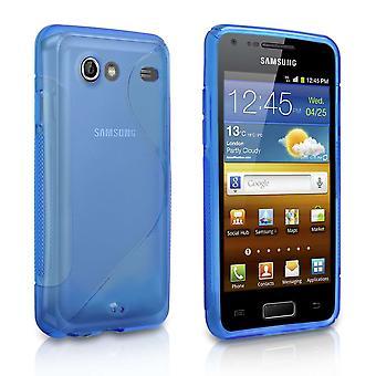 Caseflex Samsung Галактика заранее случае S-Line - Синий