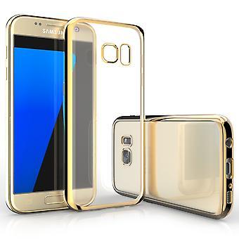 Caseflex Samsung Galaxy S7 Electroplate TPU Gel Case - goud