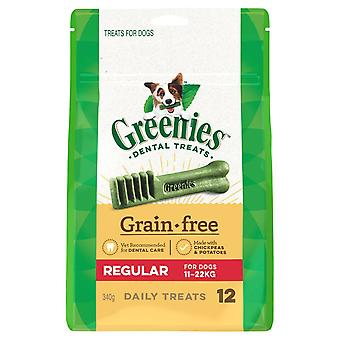 Greenies Regular Grain Free Treat Pk340g