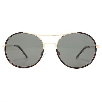 Polaroid Timeless Metal Round Sunglasses In Gold Copper Polarised