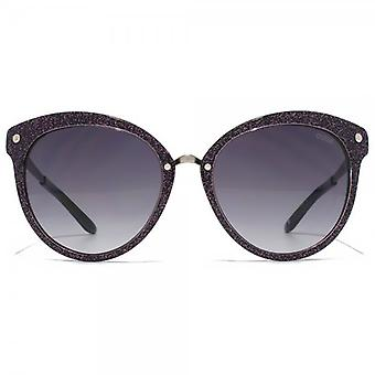 Guess Flared Round Sunglasses In Black Glitter - GU7352BLKSI-3557