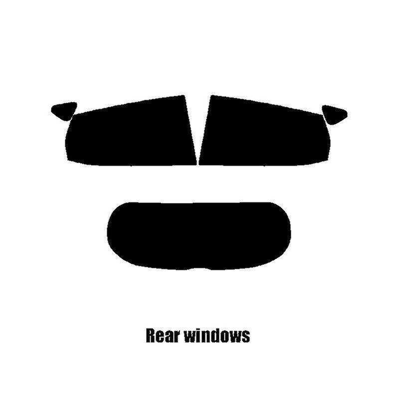 Pre cut window tint - Ford Fiesta 5-door - 2017 and newer (MK8) - Rear windows