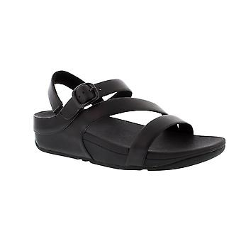 FitFlop The Skinny II Back Strap - Black (Leather) Womens Sandals