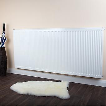 Dobbelt Panel konvektor Radiator - Type 20 - hvid Round Top - H400 x W600mm