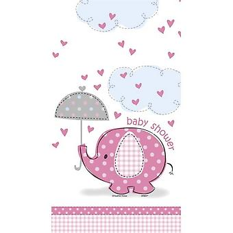 Unique Party Umbrellaphants Baby Shower Pink Tablecover