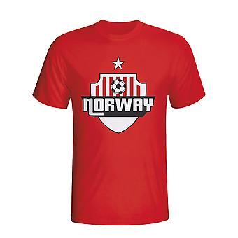 Noorwegen land Logo T-shirt (rood) - Kids