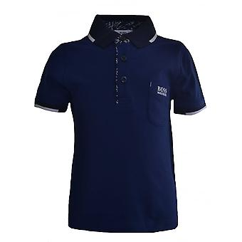 Hugo Boss jongens Hugo Boss Kids blauwe Polo Shirt