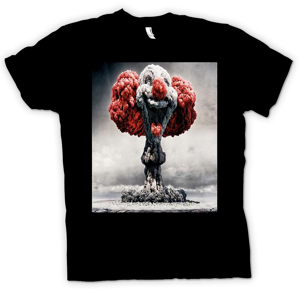 Womens T-shirt - Nuclear Explosion Clown Face
