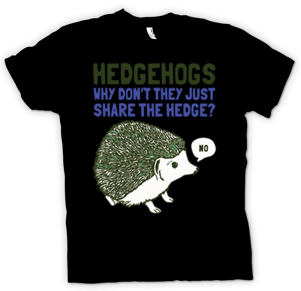 Kids T-shirt - Hedgehogs Why Don't They Just Share The Hedge?