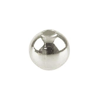 Packet 60+ Silver Iron 8mm Round Spacer Beads HA02592