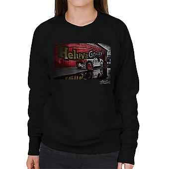 HCS Special Distressed Effect Indy Racer Women's Sweatshirt