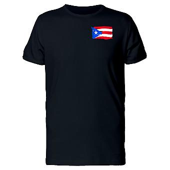 Paint Of The Flag Of Puerto Rico Tee Men's -Image by Shutterstock