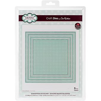 Creative Expressions Craft Dies By Sue Wilson-Shadow Boxes-Stitched Square Peg Board