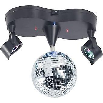 Renkforce 001407923 LED (RGB) Mirror ball set incl. LED lighting 13 cm