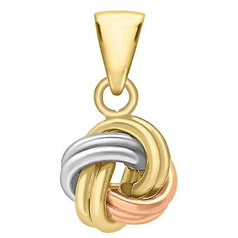 IBB London Four Way Double Knot Pendant - Gold/Silver/Rose Gold