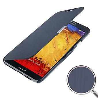 Toccare telefono cellulare custodia per Samsung Galaxy 3 N9000 blu scuro spazzolato