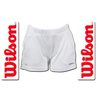 Wilson Damen Performance Short weiß/rot