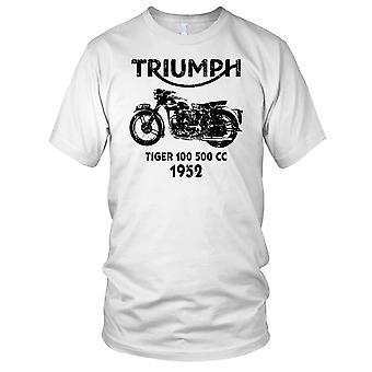 Triumf Tiger 100 500cc 52 klassisk sykkel Mens T-skjorte