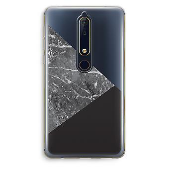 Nokia 6 (2018) Transparent Case (Soft) - Marble combination