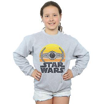 Star Wars Girls Sunset Tie Fighter Sweatshirt
