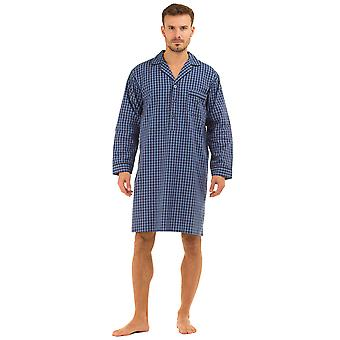 Haigman Mens Printed 100% Cotton Nightshirt Sleepwear