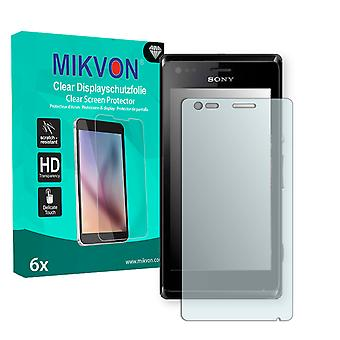 Sony Xperia M Dual Screen Protector - Mikvon Clear (Retail Package with accessories)