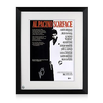 Framed Al Pacino Signed Scarface Film Poster