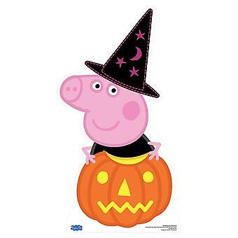 Peppa Pig Halloween cartulina recorte / pie