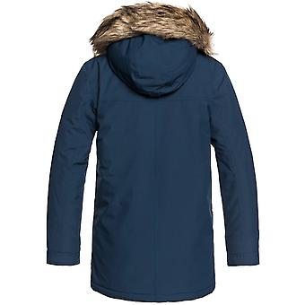 Quiksilver Dress Blues Ferris Parka - Sherpa Lined Kids Jacket