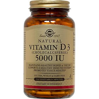 Solgar Vitamin D3 (Cholecalciferol) 5000 IU Vegetable Capsules 240ct